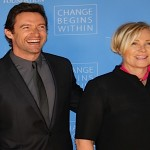 "Actors Hugh Jackman and wife Deborra-Lee Furness are honored as David Lynch Foundation presents ""Change Begins Within"" - a benefit and gala celebrating service of veterans and first responders in New York City hosted by David Lynch and Jerry Seinfeld on D"