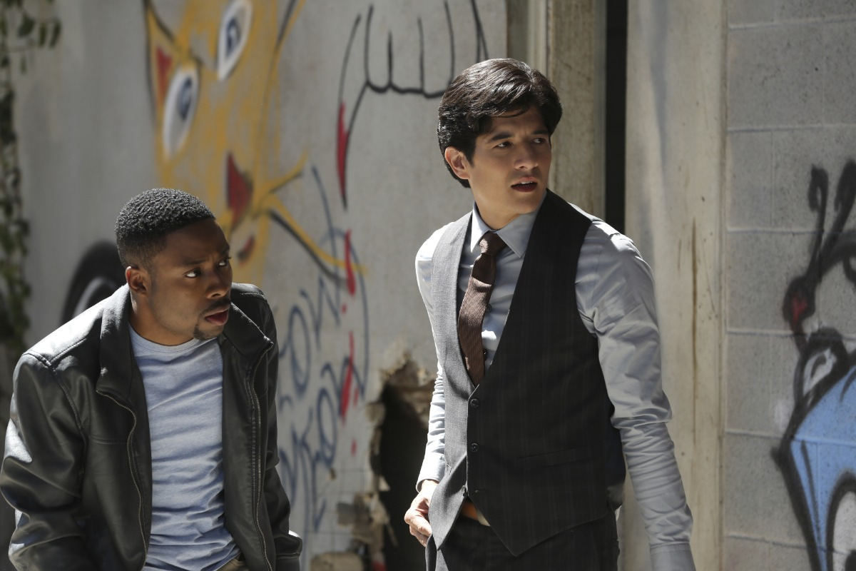 RUSH HOUR, a reimagining of the hit feature film franchise, is CBS's new buddy-cop drama about maverick LAPD detective Carter (Justin Hires, left) and by-the-book Hong Kong detective and master martial artist Lee (Jon Foo), who knock heads when they are forced to partner together in Los Angeles. Photo: Michael Yarish/CBS ©2015 CBS Broadcasting, Inc. All Rights Reserved