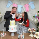 "Reality TV couple Sean and Catherine Lowe celebrate their pregnancy at the Dreft ""Loads of Love"" baby shower, Wednesday, April 27, 2016, in New York.  Visit Dreft.com and the brand's social channels for more information about the couple's parenting journey.  (Diane Bondareff/Invision for Dreft/AP Images)"
