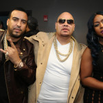 NEW YORK, NY - APRIL 17, 2016 French Montana, Fat Joe & Remy Ma backstage at DJ Prostyle's Birthday Party at stage 48, April 17, 2016 in new York City. Photo Credit: Jamel Johnson