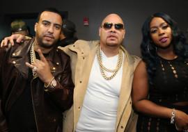 NEW YORK, NY - APRIL 17, 2016 French Montana, Fat Joe & Remy Ma backstage at DJ Prostyle's Birthday Party at stage 48, April 17, 2016 in new York City. Photo Credit: Jamel Johnson