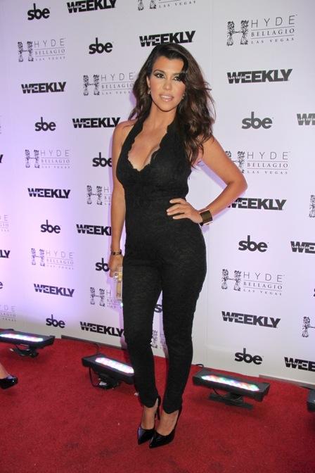 Labor Day Weekend Bash Hosted by Kourtney Kardashian at Hyde Nightclub in Las Vegas on August 31, 2013