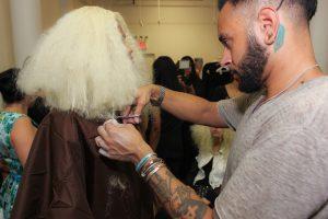 MIZANI Celebrity Artist Cesar Ramirez_Backstage Prep2