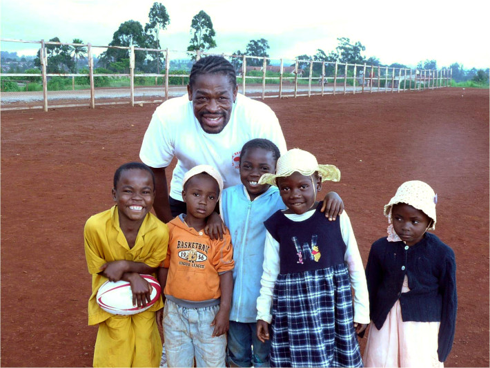 Serge with kids