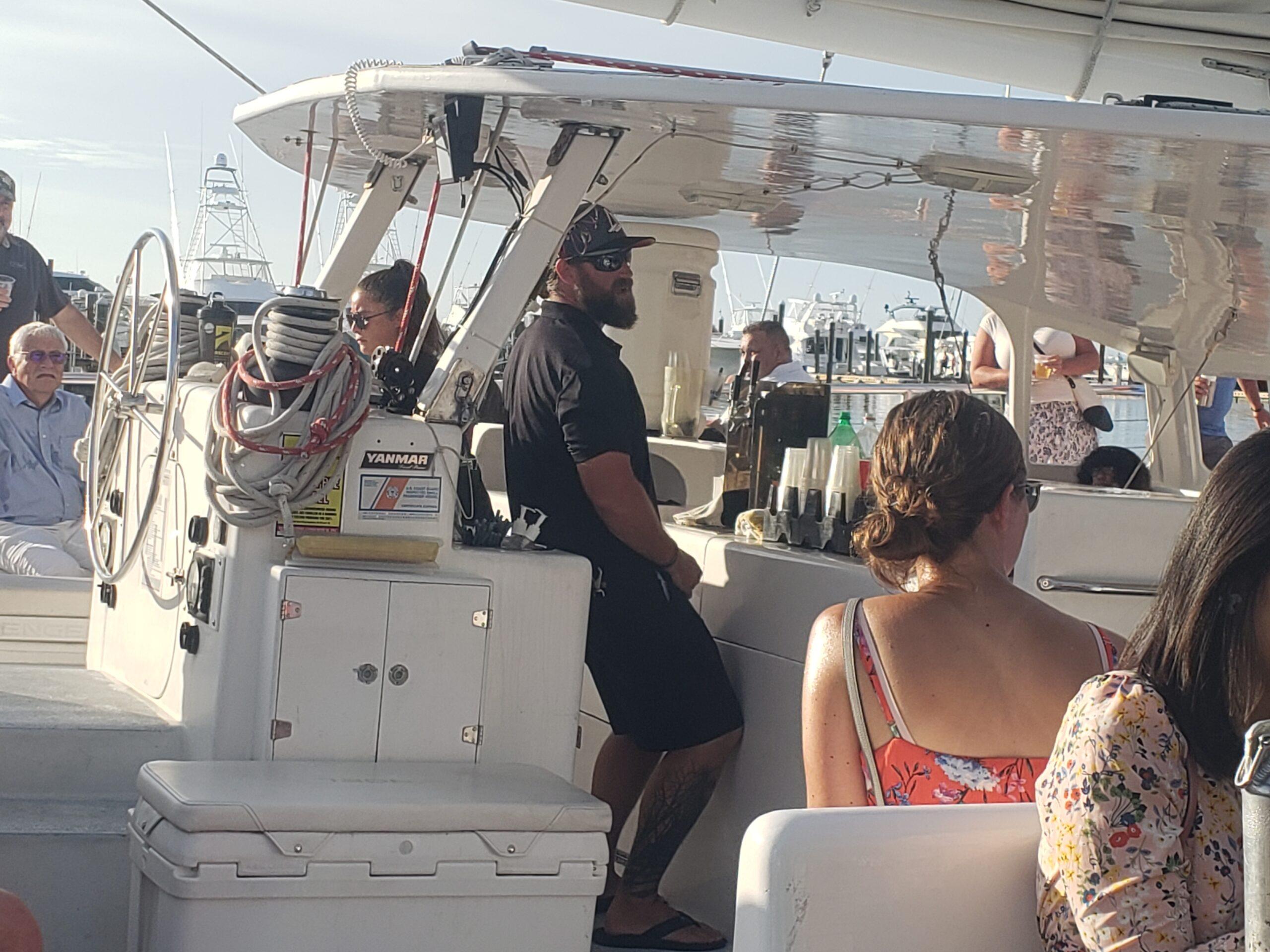 catamaran sunset sail with Sebago Watersports