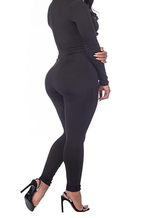 black jumpsuit